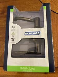 New Schlage F10 V Fla 609 Hall And Closet Flair Lever F10vfla609 Antique Brass