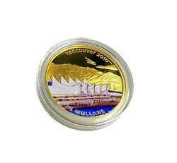 2008 Canada 14-kt Gold 75 Coin - Vancouver 2010 Olympic Winter Games Home Of T