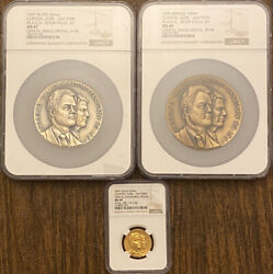 1997 Presidential Official Inauguration Medal Set Clinton Gore 2nd Term Ngc
