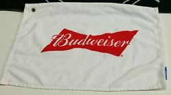 Used - Budweiser Players Golf Towel - Ball/club/putter/shoe/game/hand - Vtg