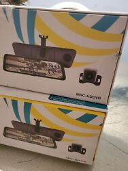 Echomaster - Full Screen Rear View Mirror Replacement Monitor With Dvr And Ba...