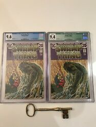 Swamp Thing 1 Xand039s 2 Cgc 9.6 And 9.4 Signed Bernie Wrightson Origin Of Swamp Thing