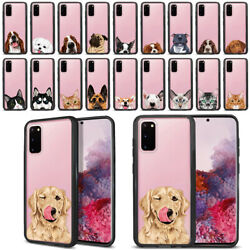 For Samsung Galaxy S20 6.2quot; 2020 Dog Cat Hybrid Hard Clear Case TPU Bumper Cover