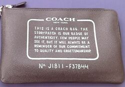 Authentic Coach Story Patch Clutch Zip Large Pouch J1811-f37844