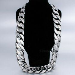 31mm Super Heavy Mens Boys Chain Silver 316l Stainless Steel Necklace