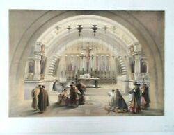 Mount Calvary By David Roberts Date1845original Lithograph Antique Colouring
