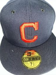 7 5/8 Cleveland Indians Navy 2019 All Star Game Icy Blue Bottom Fitted Hat