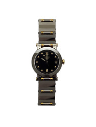 Vizio Movado 1603599 Men's 35mm Black Dial Gold Silver Stainless Steel Watch