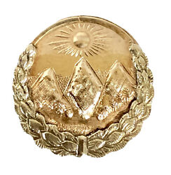 Antique 10k Rose Yellow Gold Pythian Sisters Past Chief Pin Knights Of Pythias