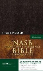 Nasb Giant Print Reference Bible, Personal Size, Indexed By Zondervan Brand New