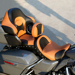 Driver Passenger Seat And Backrest Fit For Harley Cvo Touring Flht 2014-2021 20 Us