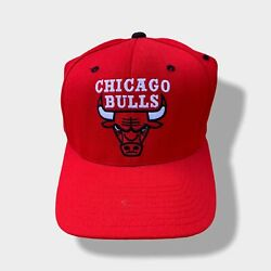 Vintage Chicago Bulls Starter Fitted Hat Size 2 Fits 7 1/8 To 7 3/8