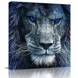Canvas Wall Art Painting for Home Office Bathroom Decoration3D Lion Head with