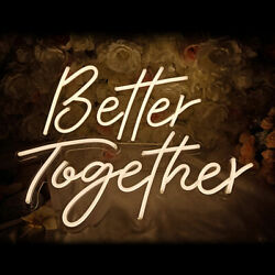 Better Together Neon Sign Neon Words Neon Lamps Home Wall Wedding Party Decor-us
