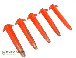 Genuine Us Army Issue Usmc Tent Pegs For Pup Tents Heavy Duty Peg Stakes