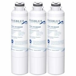 3 Pack Refrigerator Water Filter Fits For Samsung Rs25j500dsg, Rs25j500dsg/aa