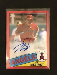 Mike Trout 2020 Topps Chrome Andlsquo85 Auto Red. 3/5