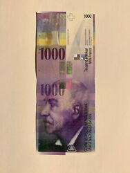 Banknote 1000 Swiss Franc Chf Banknote/bill Excellent Condition