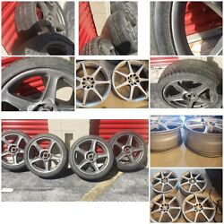 Used 18 Inch Rims And Tires. 4x114.3 Fits On 4 Bolts Honda Accord And Civics.