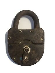 Antique Padlock Antique Barn Lock Large Thick Metal Collectibles
