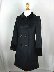 N.peal Of London 100 Pure Cashmere Black Coat 10-12