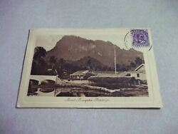 Cook Islands Picture Postcard Rarotonga Mountains Queen Makea Stamp 1919 Used
