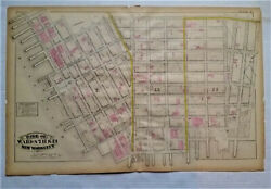 Nyc Map East River, 4th St, Clinton St, East River, Antique Watercolor Map 6