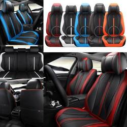 5d Pu Leather Car Seat Covers Cushions Interior All Weather Universal Protectors