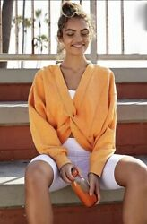 Free People Movement Sweatshirt Top Reversible Orange Go For The Gold Xs Nwt