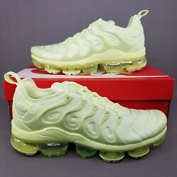 Nike Air Vapormax Plus Running Shoes Womens Size 10.5 Athletic Barely Volt Men 9