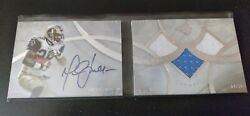 2013 Five Star Marshall Faulk On Card Auto 3 Patch Booklet 4/38 Sp Rams