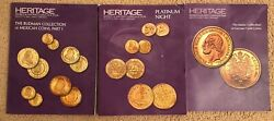 Three 3x Heritage Coin Catalogs For 2015 Ana World And Ancient Coin Auctions