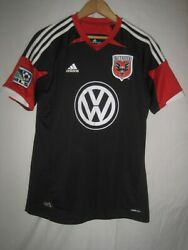 Dc United Boy's Adidas Climacool Soccer Jersey Kids Youth Xl Black New Nwot
