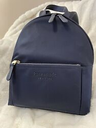 Kate Spade The Nylon City Pack Medium Backpack Rich Navy Nwt Free Shipppng