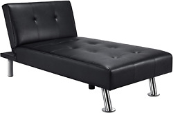 Faux Leather Chaise Lounge Sofa Sectional Indoor Convertible Daybed To Recliner