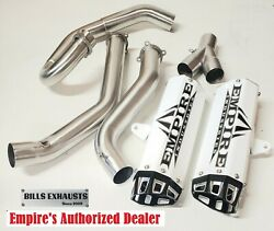Empire Industries 15-21 Raptor 700 Dual Exhaust Full System Fast Huge Hp White