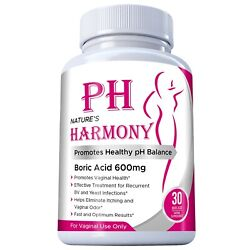 Harmony 600mg Vaginal Suppositories Yeast Infection Bv Made In Usa 30 Ct