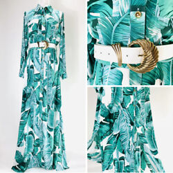 Women Ladies Maxi Dress Cocktail Party Evening White Green $40.00