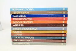 Lot Of 12 Home Repair And Improvement Time-life Books - Hc