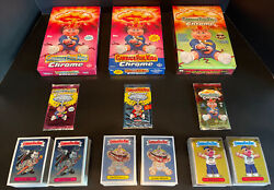 Garbage Pail Kids Chrome Series 1, 2 And 3 Complete Sets + Boxes And Wrappers Psa It