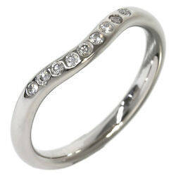 And Co. Pt950 Diamond Curved Band Pinky Ring Us3.5 Eu45.5 Women N1745