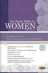 Study Bible For Women Nkjv Large Print Edition, Hardcover By Kelley Dorothy