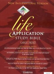 Niv Life Application Study Bible, Large Print, Indexed By Bruce B. Barton Mint