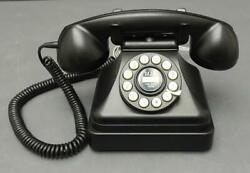 Crosley Cr-62 Black Kettle Classic Desk Phone W/ Push Button Technology Tested