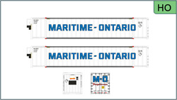 Rapido 402023 53and039 High Cube Container 2pack Maritime-ontario