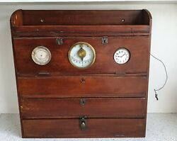 Antique Ships Captains Wooden Drawers Maritime Ship's Wooden Box 19thc