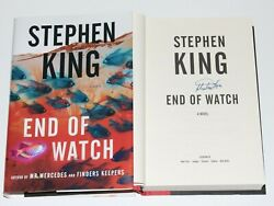 Stephen King Signed 'end Of Watch' First Edition Hc Book Coa Bill Hodges Trilogy