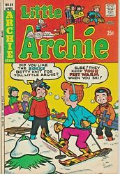 Little Archie 85 Skiing Cover The Riverdale Gang 1974 Nice