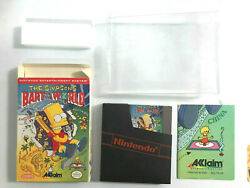 Original 1991 Nintendo Nes The Simpsons Bart Vs The World Box, Game And Poster