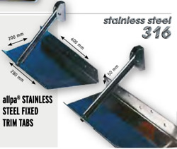 Marine Boat Smart Tabs Stainless Steel Fixed Trim Tab 1 Piece